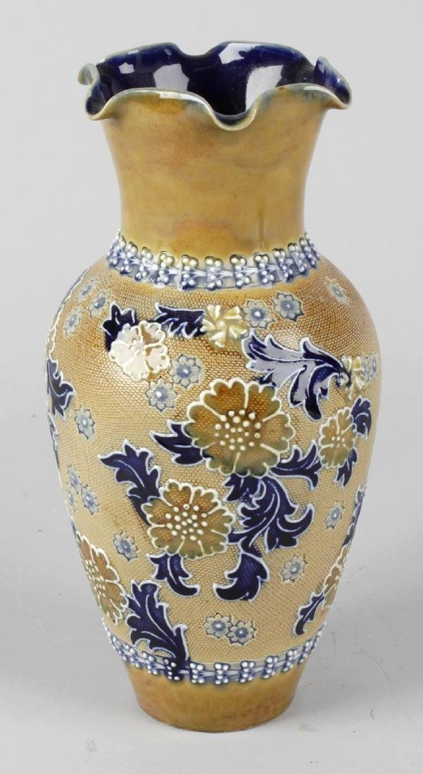 A Doulton Lambeth stoneware vase, the body of baluster