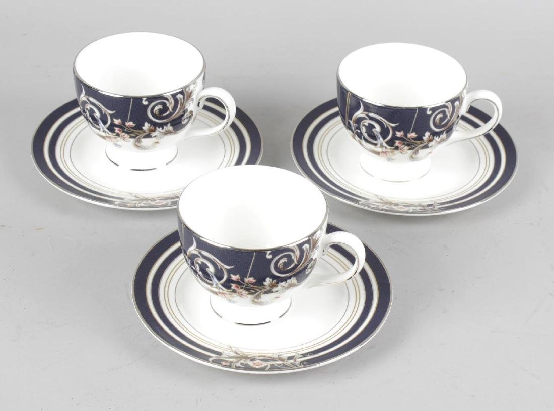A collection of Wedgwood 'Renaissance Blue' pattern tea