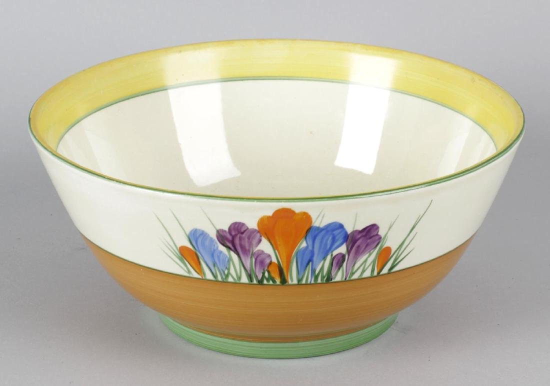 A Clarice Cliff Newport pottery 'Bizarre' bowl, the