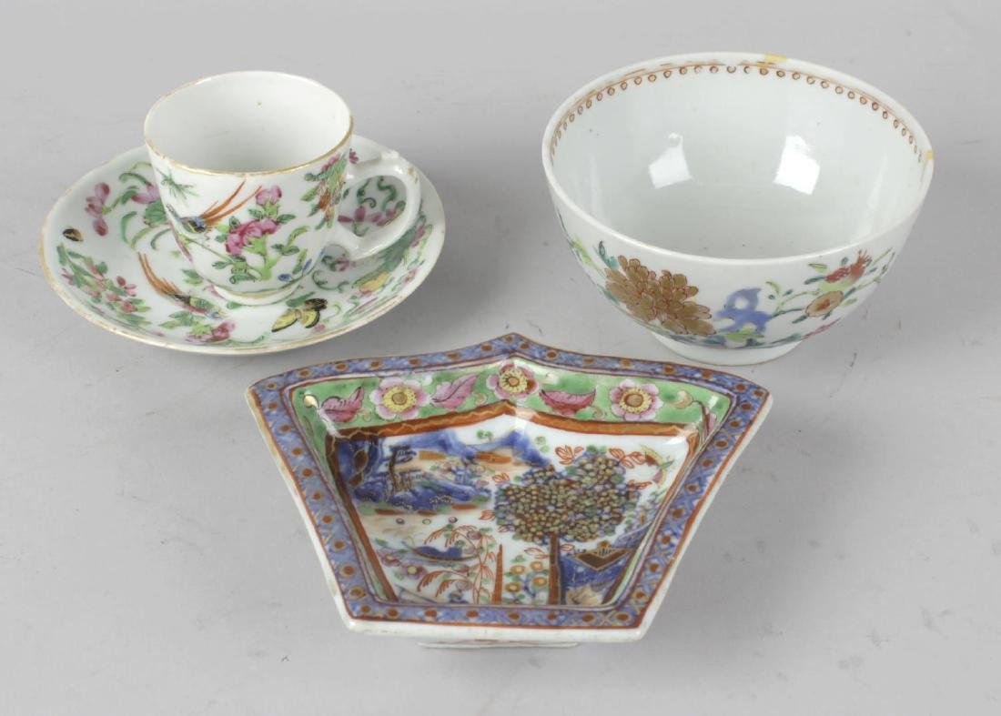 A group of Oriental ceramics. Comprising: a small 19th