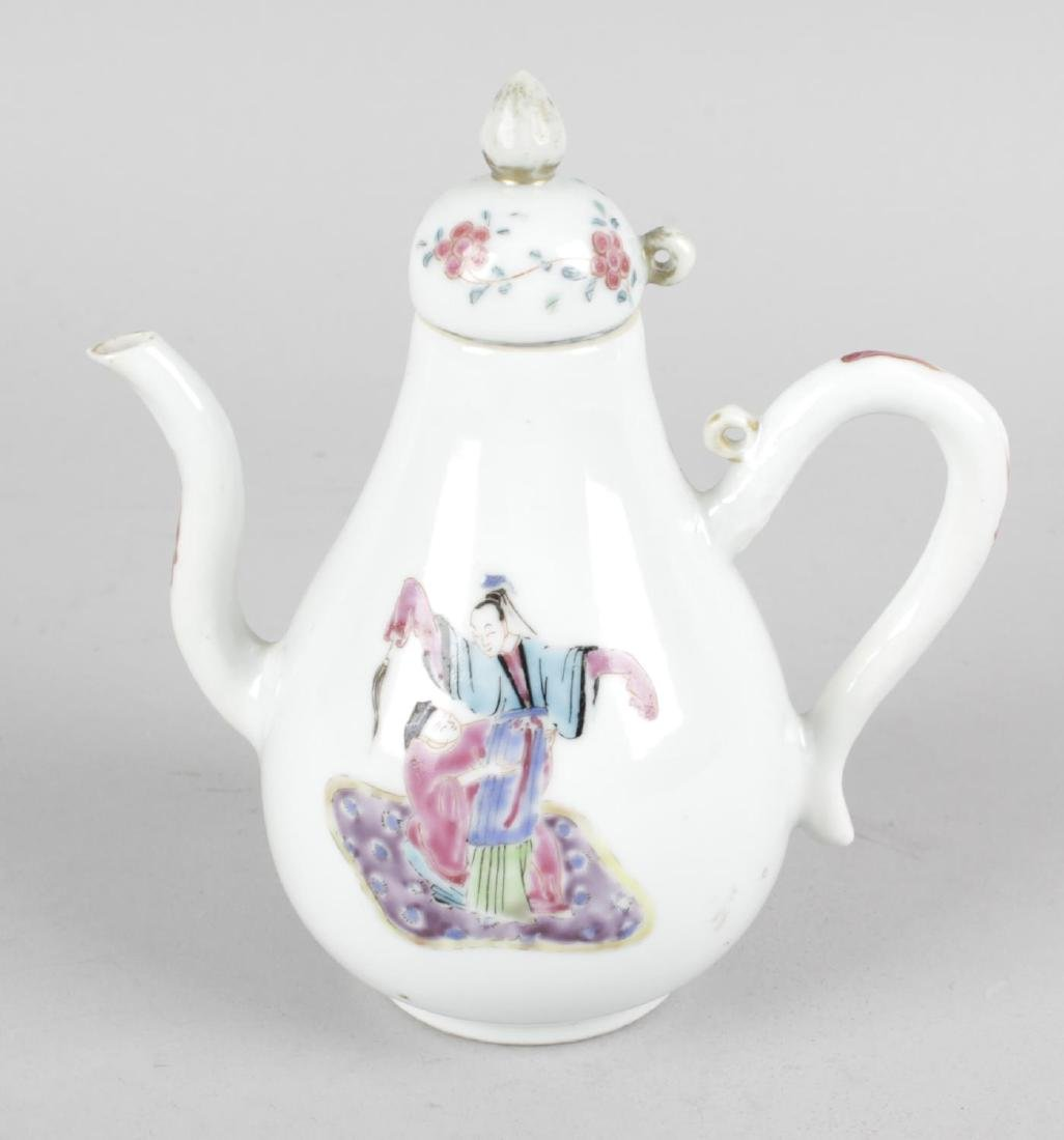 A Chinese Canton famille rose porcelain ewer. Probably