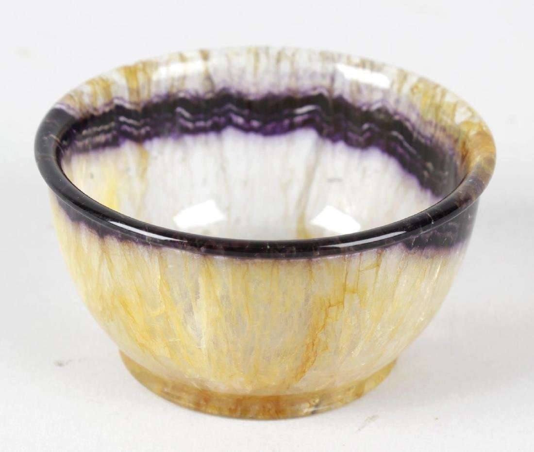 A Blue John bowl.Winnats One vein, of flat-bottomed