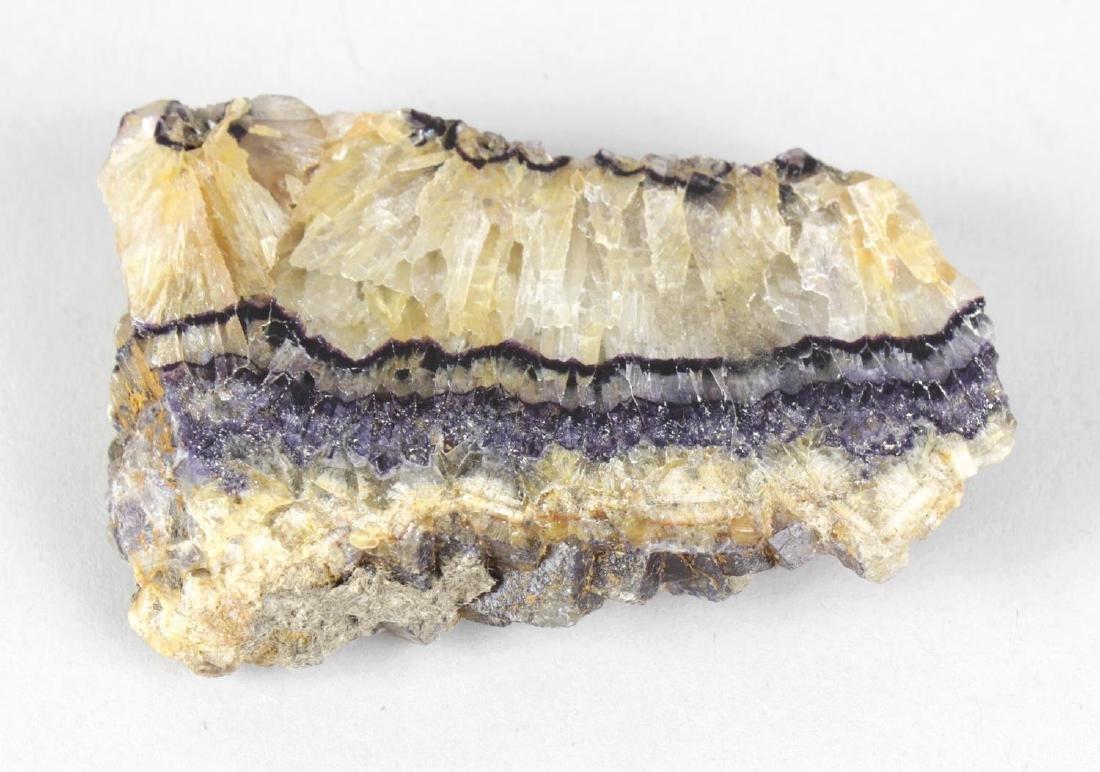 A Blue John polished specimen. Millers vein, one face