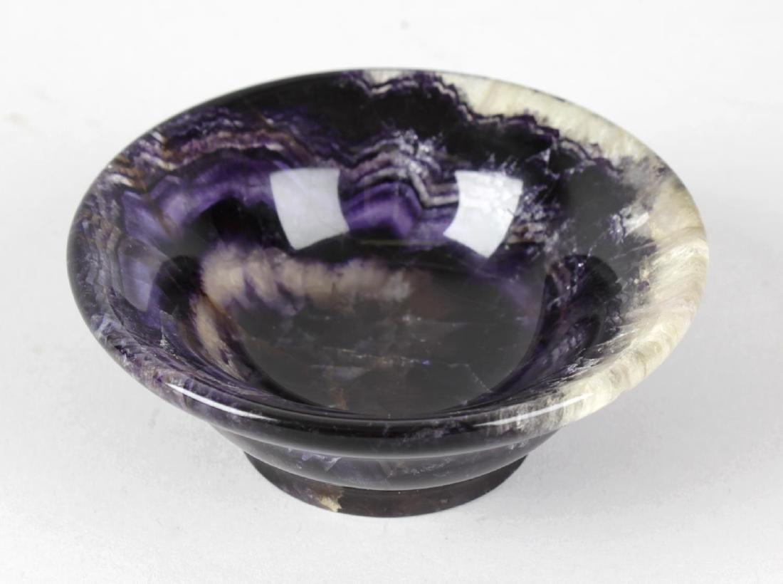 A Blue John bowl. Probably Blue John Cavern Twelve