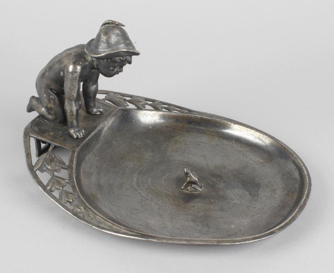 A WMF silver plated dish, modelled as a young boy