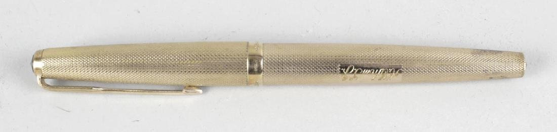 A 9ct gold Parker fountain pen, the tapered body with