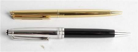 A Montblanc Meisterstuck Pix ballpoint pen, the black