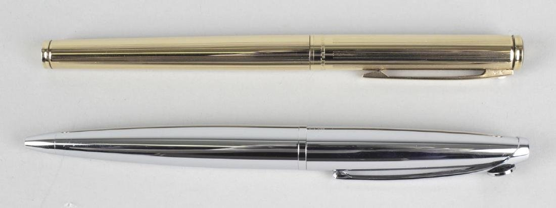 A Sheaffer fountain pen, with gold electroplated case,