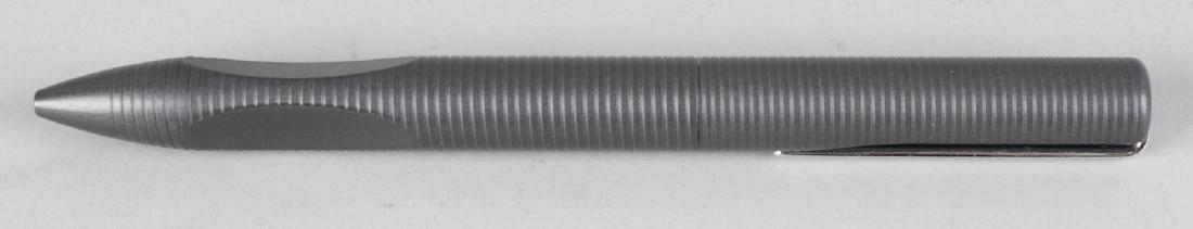 A Porsche P3120 anthracite retractable ballpoint pen,