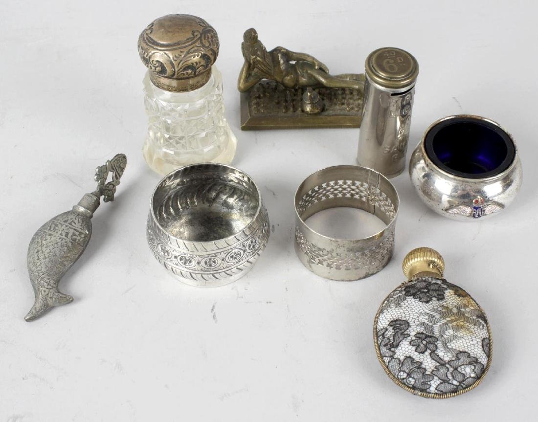 A collection of assorted items, to include bronze