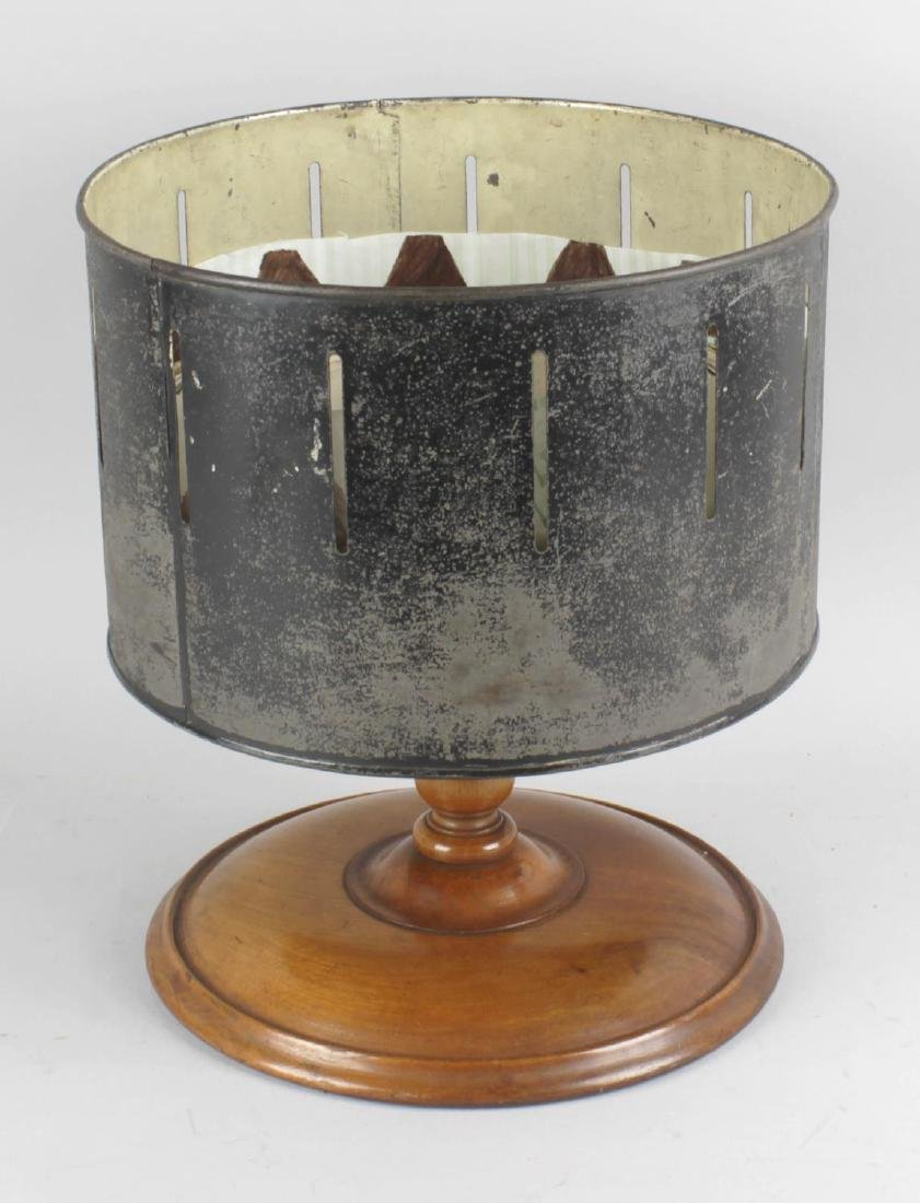 A late 19th century Zoetrope or 'Wheel of Life'. The