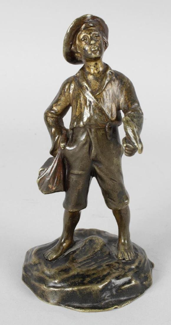 A late 19th century French bronze modelled as a young