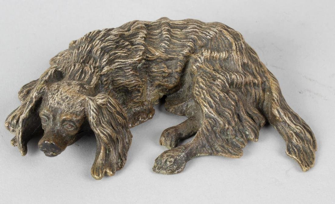 A cold painted cast bronze study depicting a resting