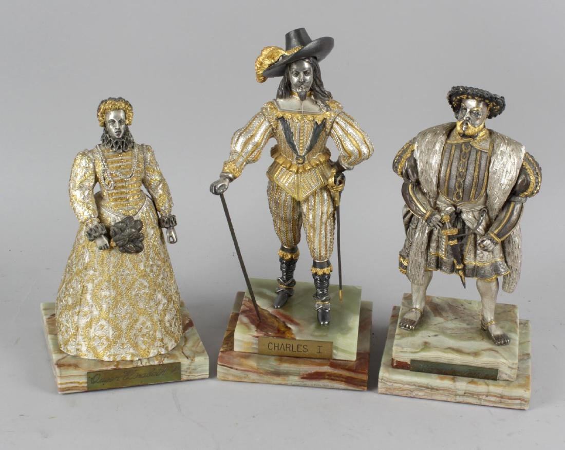 Three Birmingham Mint limited edition figures. Henry