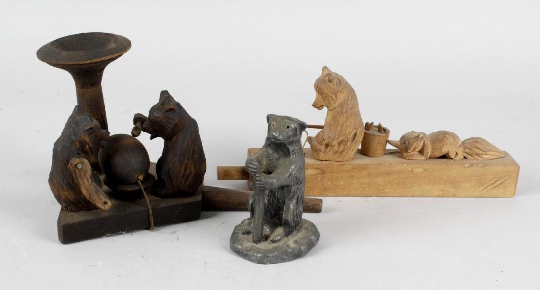 A box containing assorted bear figurines, to include a