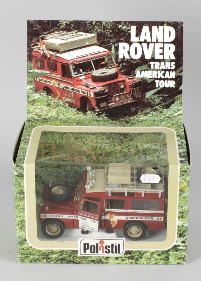A Polistil diecast and plastic model Land Rover Trans