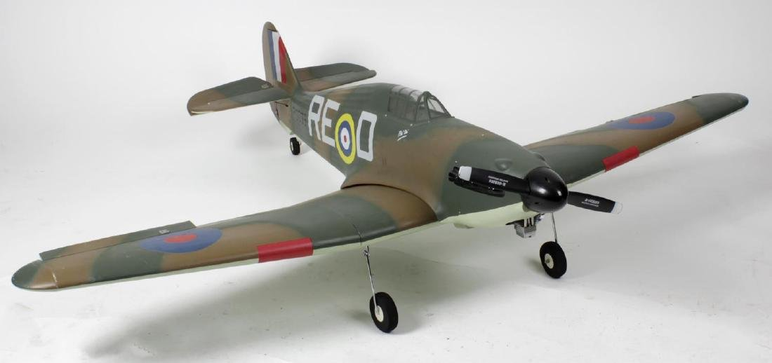A large radio controlled scale model 'Spitfire'
