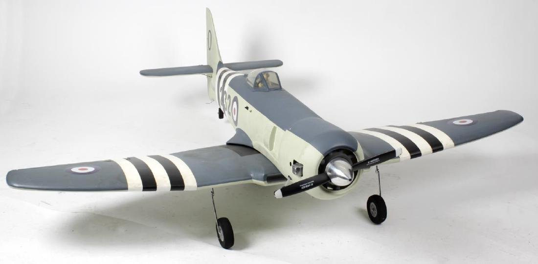 A large radio controlled scale model 'Sea Fury'