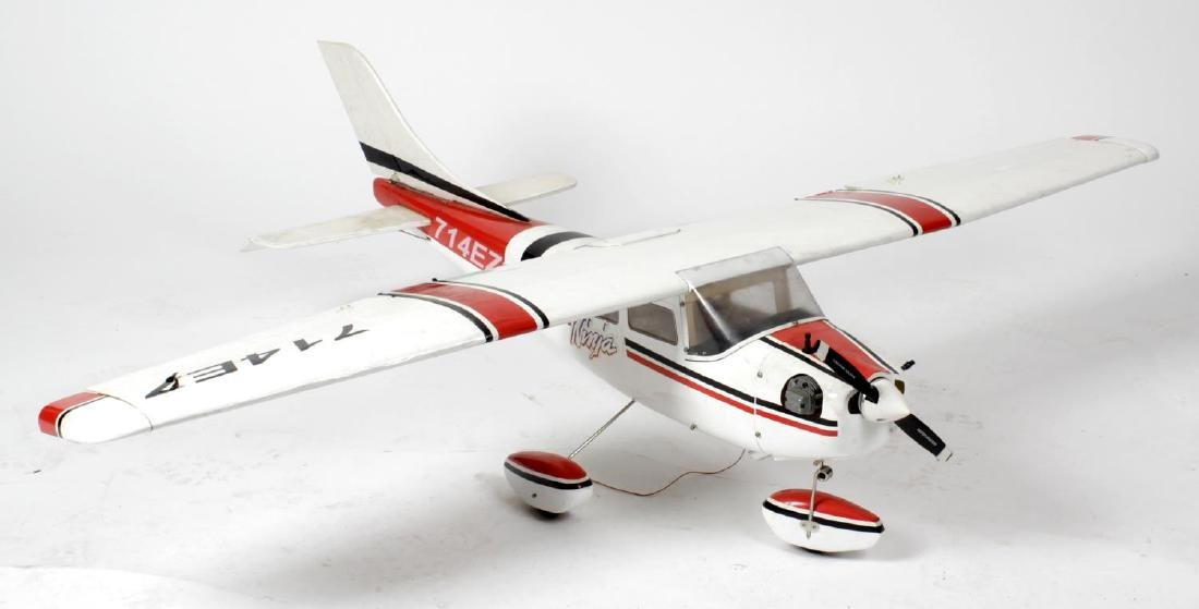 A large radio controlled scale model Alaskan seaplane