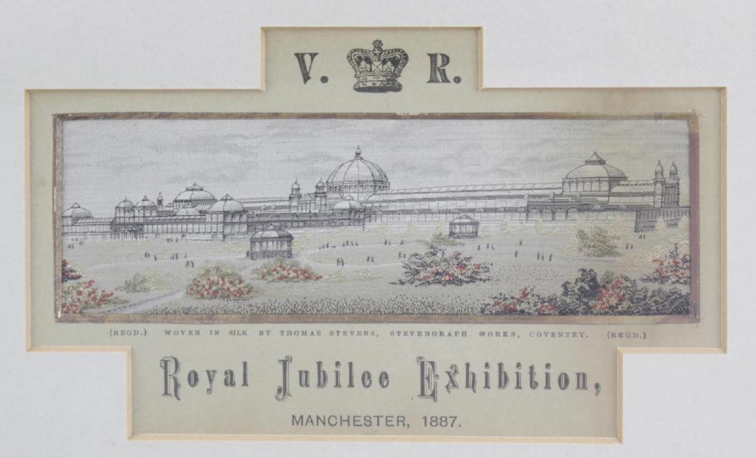Four Victorian silk Stevengraphs. 'The Crystal Palace',