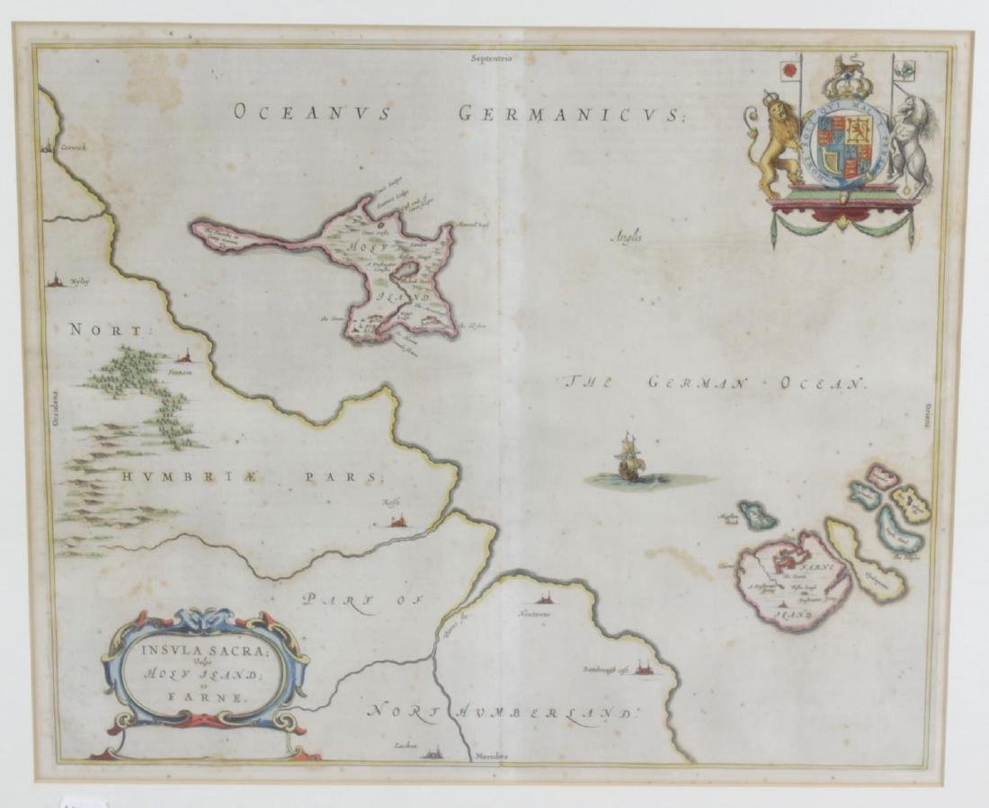 Two mid 17th century Johannes Blaeu engraved maps. The