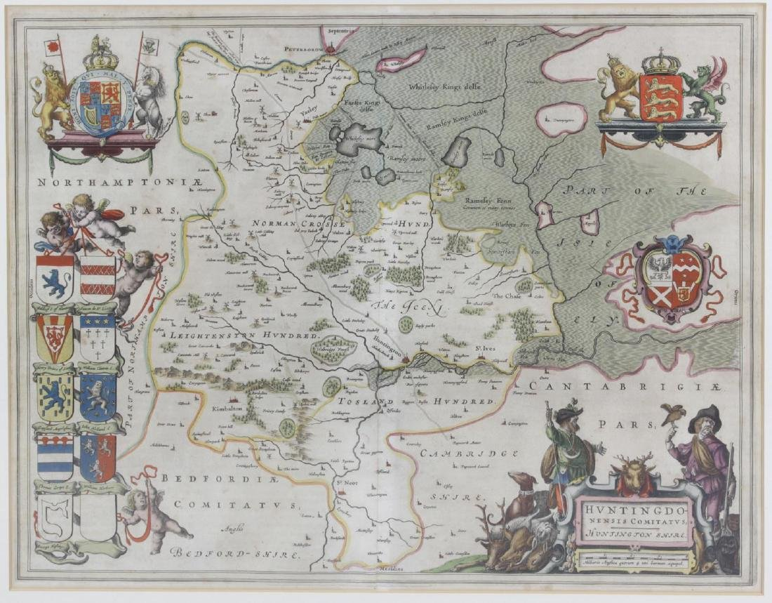 Two mid 17th century Johannes Blaeu engraved county