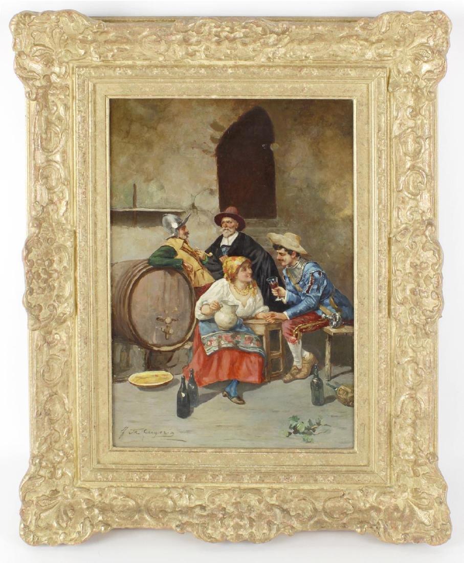 *** de Gregorio, (20th century), a tavern scene with