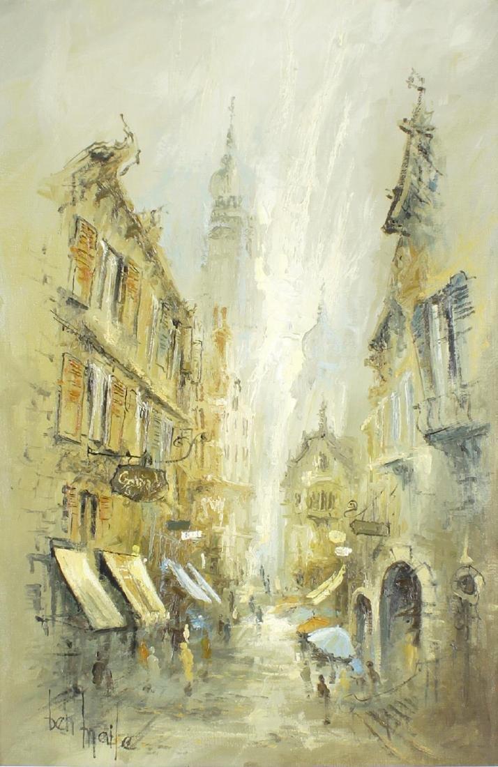 ARR Ben Maile, (b. 1922), 'Street in Dubrovnik', oil on