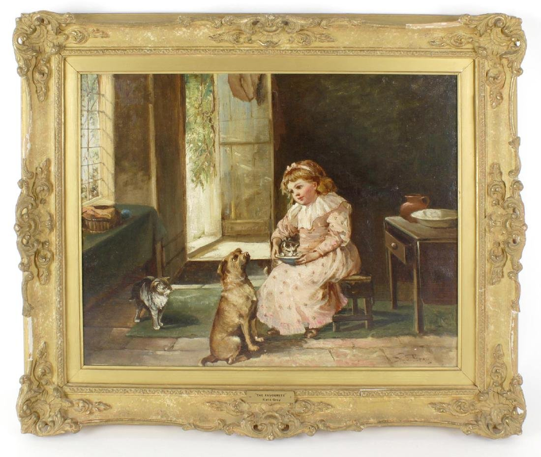 Kate Gray, (fl. 1881-1931), 'The Favourite', a young