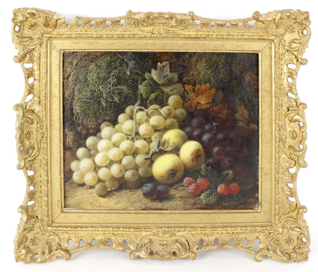 George Clare, (1830/5-1900), Still life with fruit; red