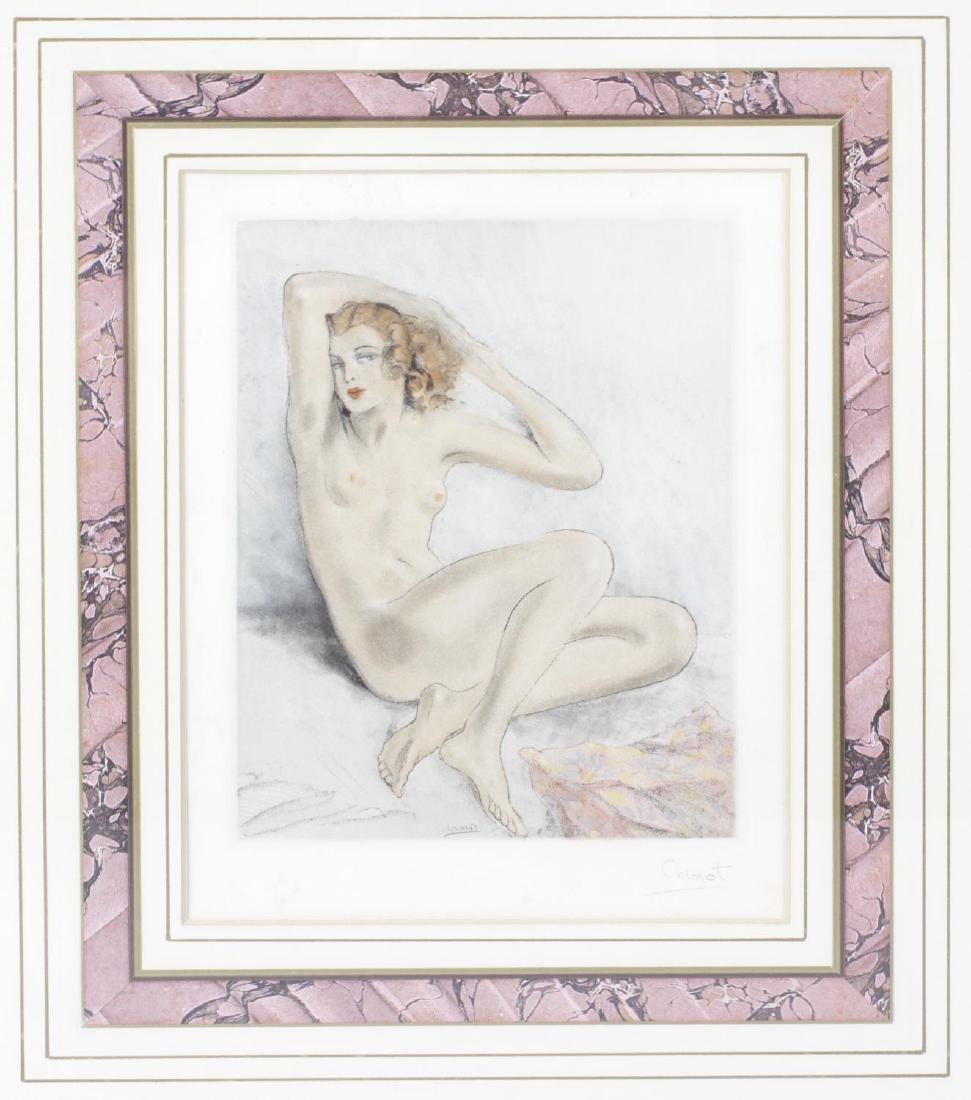 Edouard Chimot (1880-1959), coloured engraving of