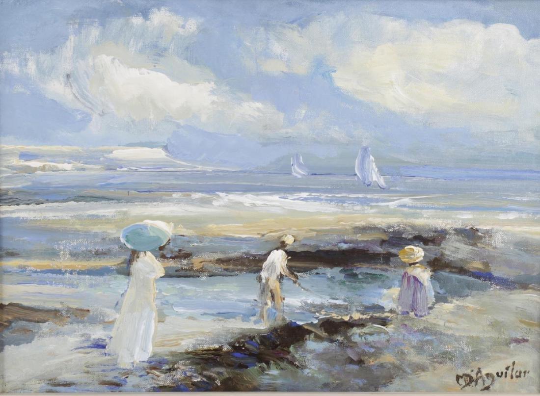 ARR Michael D' Aguilar, (b. 1924), 'Sur Les Roches',