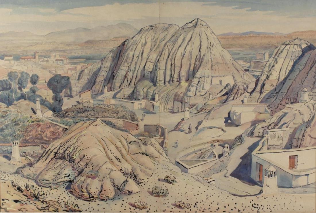 Wyndham Tryon, (1883-1942), 'Cave Dwellings, Guadix',