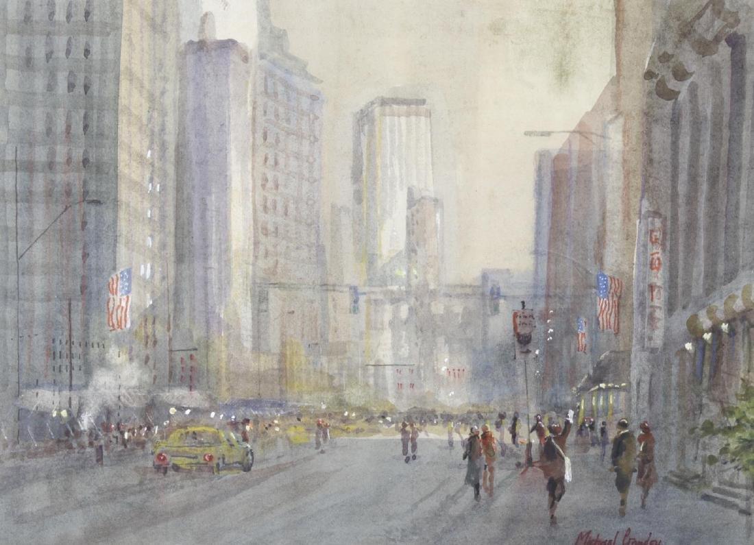 Michael Crawley (modern), a framed and glazed