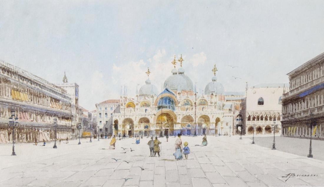 ARR Andrea Biondetti (1851-1946), watercolour, Venetian