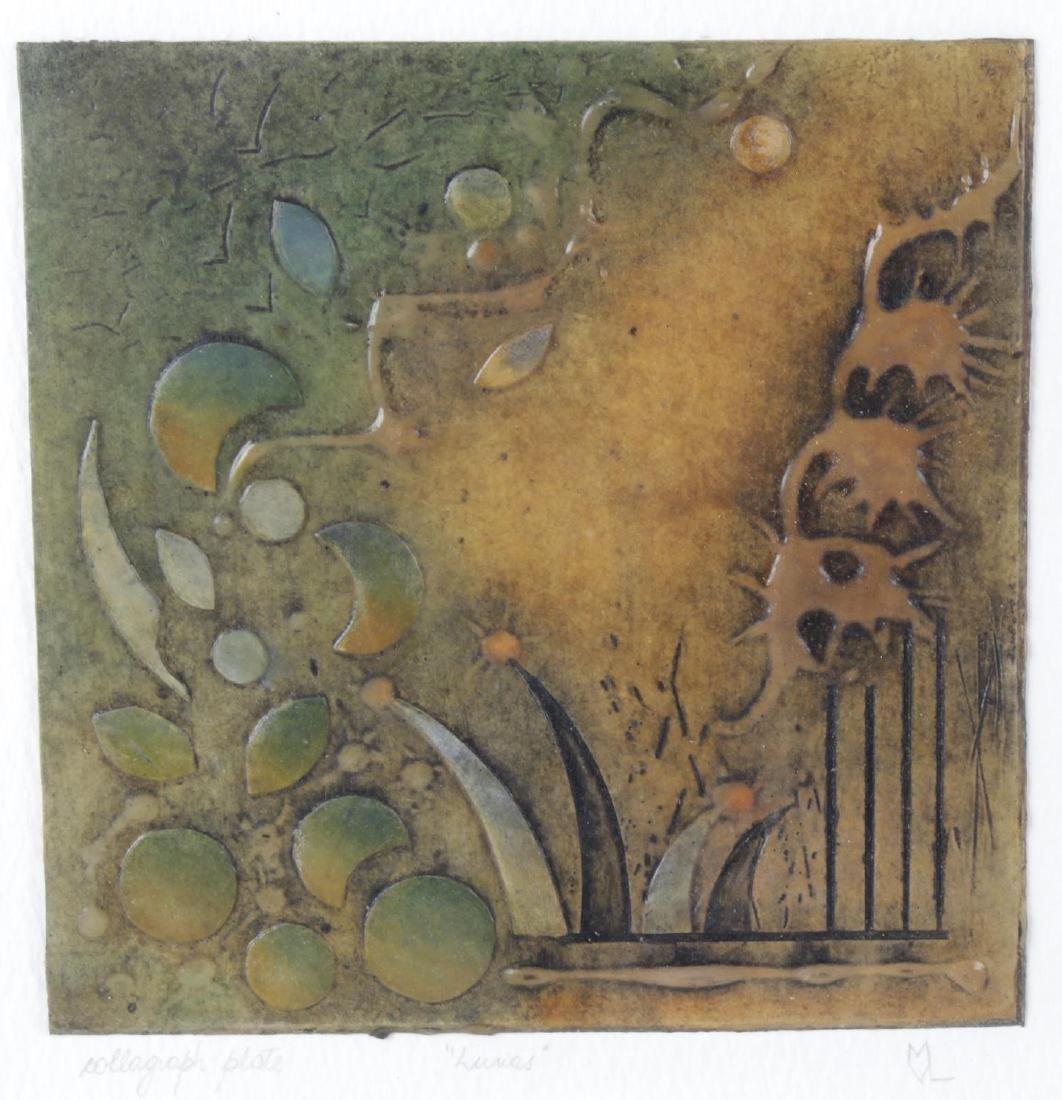 Maria Vazquez Landini (Modern), mixed media, 'Lunas',