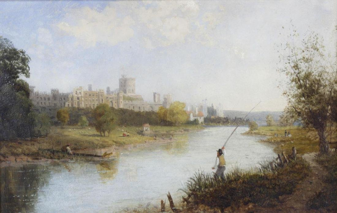 19th Century English School, oil on canvas, a view of