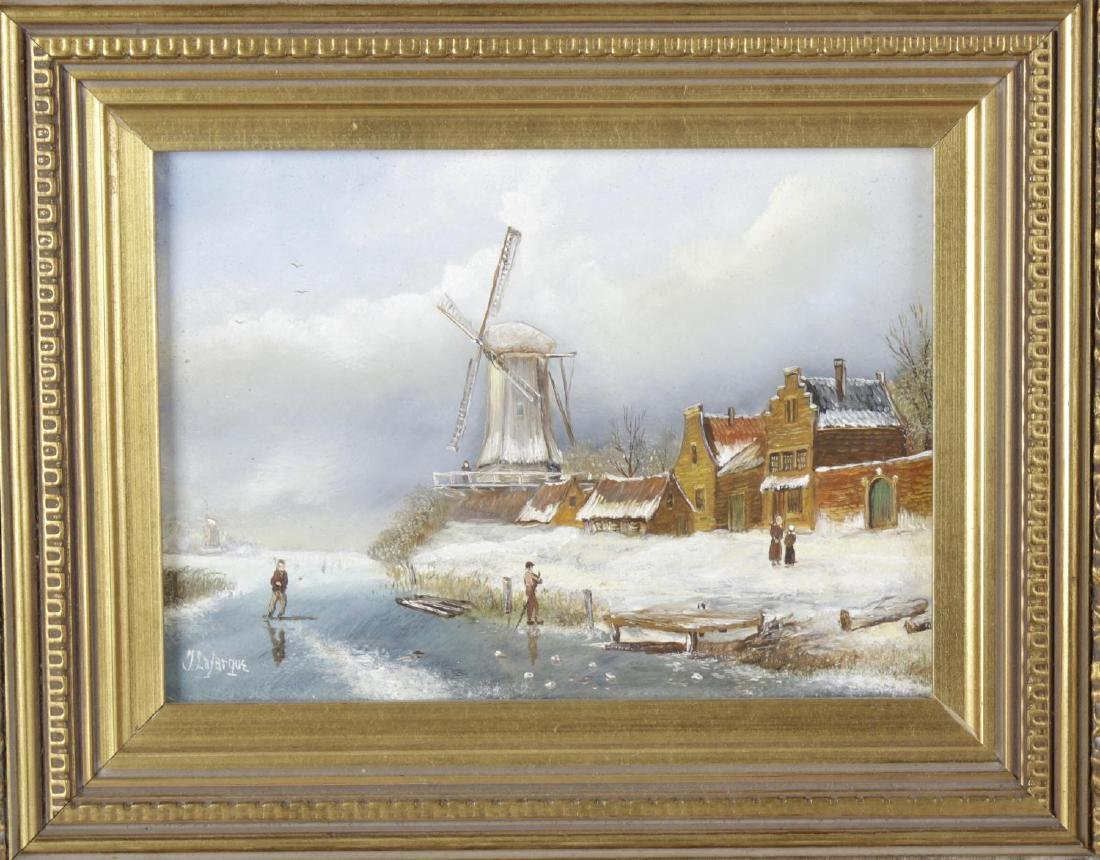 T Lafarque (20th century), oil painting on panel, Dutch