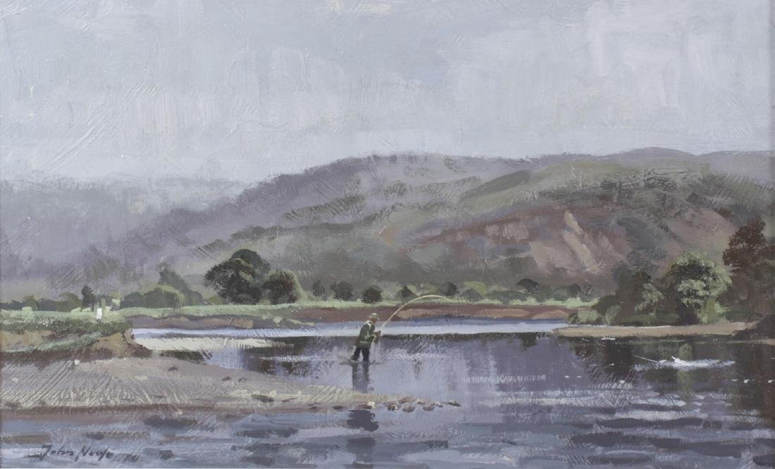 ARR John Noote (Modern), oil on board, river scene with