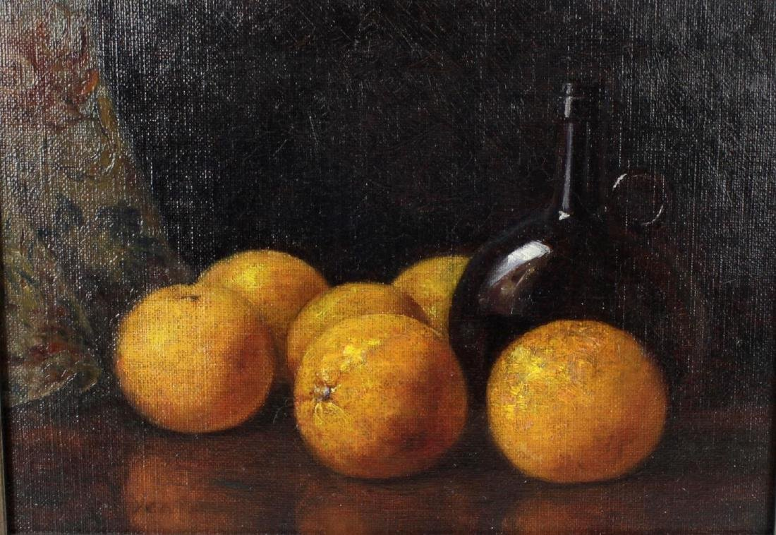 Alice Mary Yeatman, (1866-), Still life with oranges