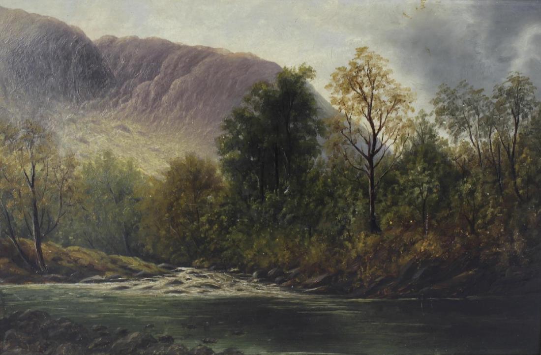 English School, (19th century), A Lake District scene,