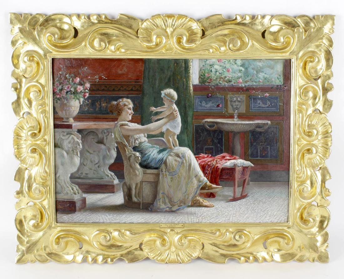 ARR Guglielmo Zocchi, (1874-1957), Two oil paintings on