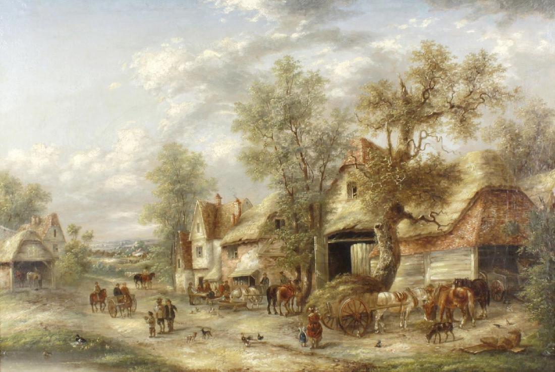Attributed to Georgina Lara, (fl. 1862-1871), A village