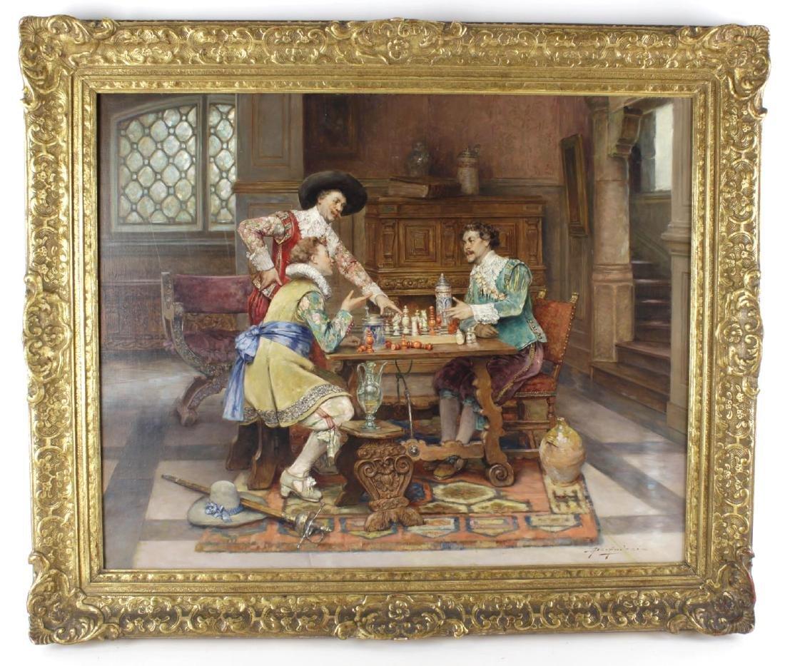Alex de Andreis, (1880-1929), The Chess Match, dandies