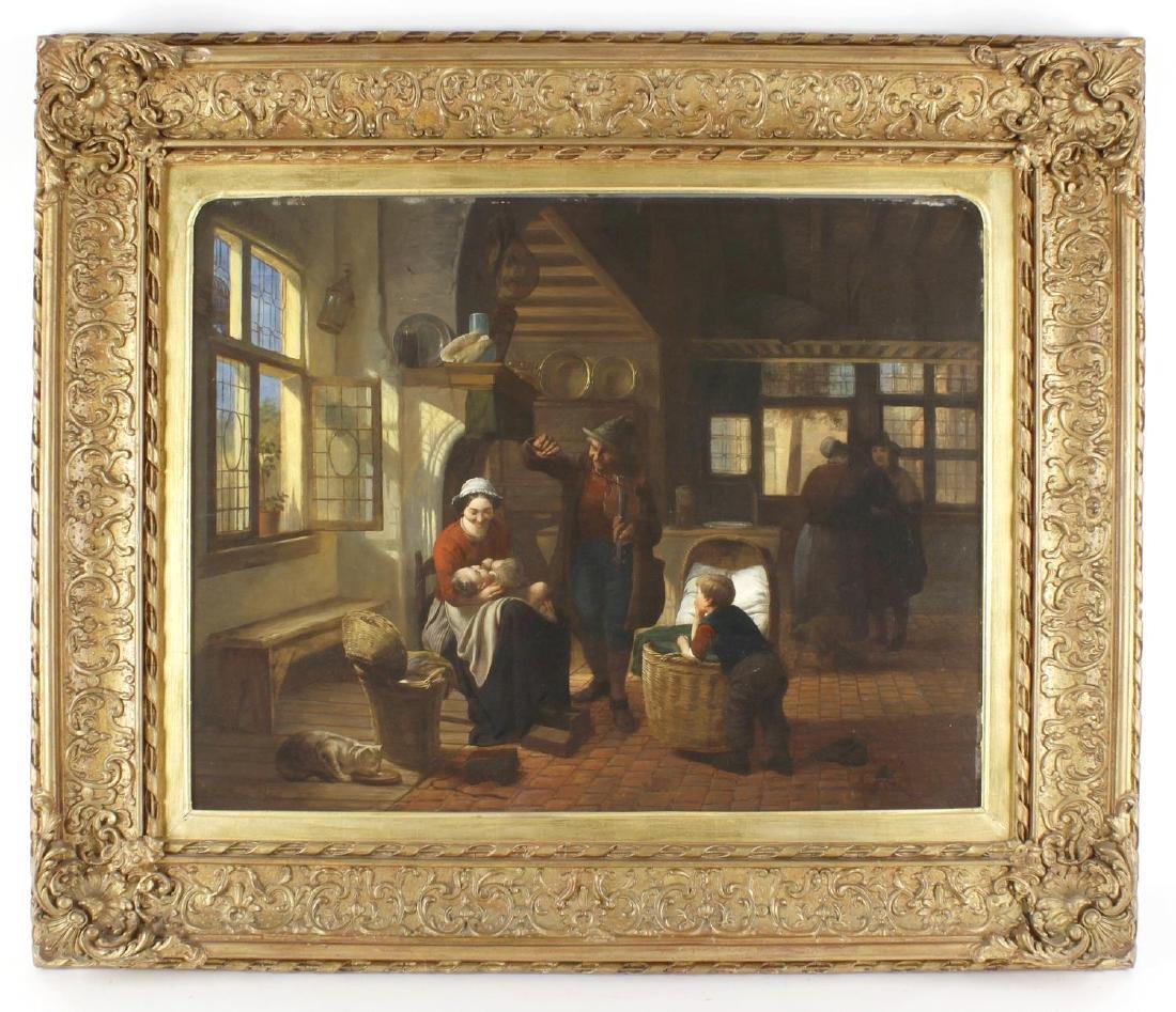 Jos van Bree, (Dutch, 19th century), A genre scene,
