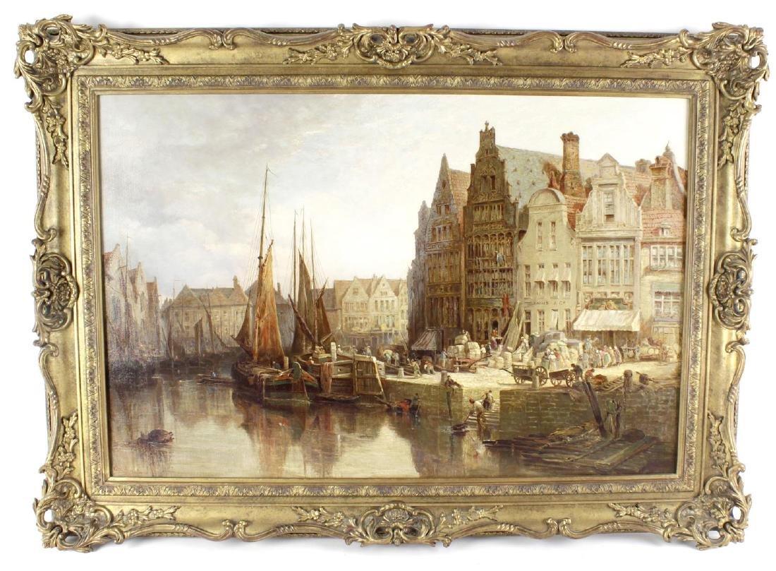 John Fulleylove, (1845-1908), 'Ghent', a street scene