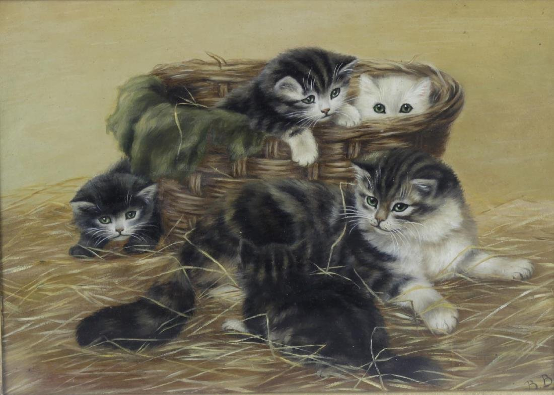 Bessie Bamber (fl. 1900-1910), kittens playing in a