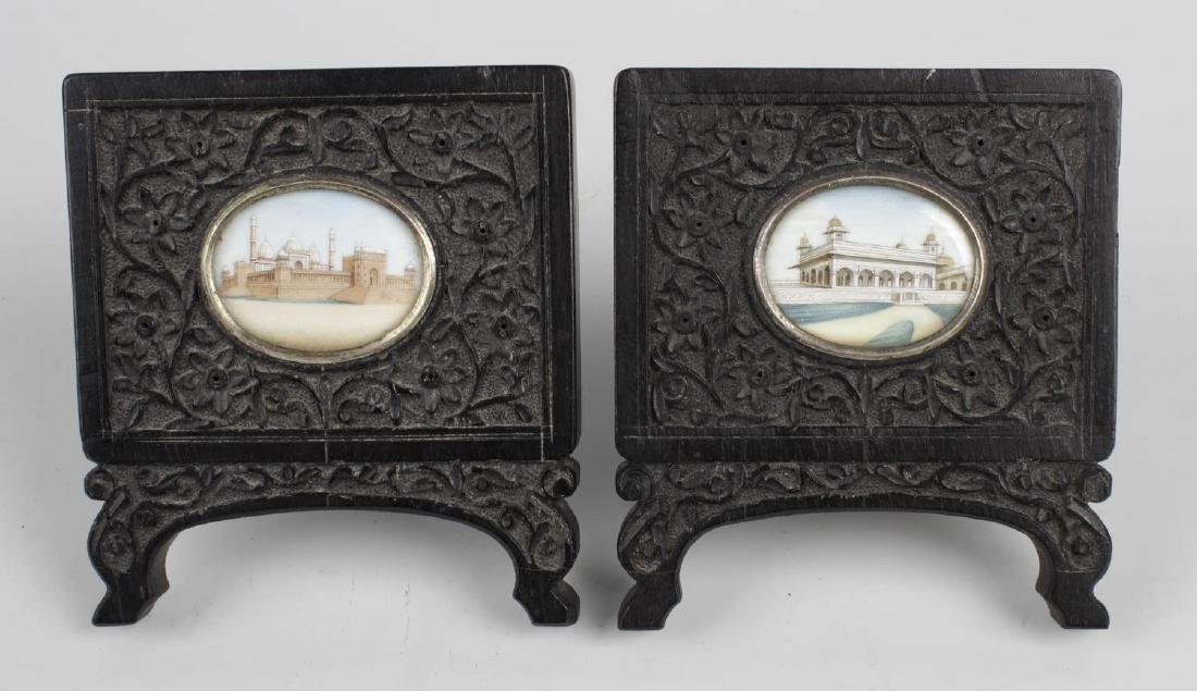 Two 19th century oval painted miniatures upon ivory
