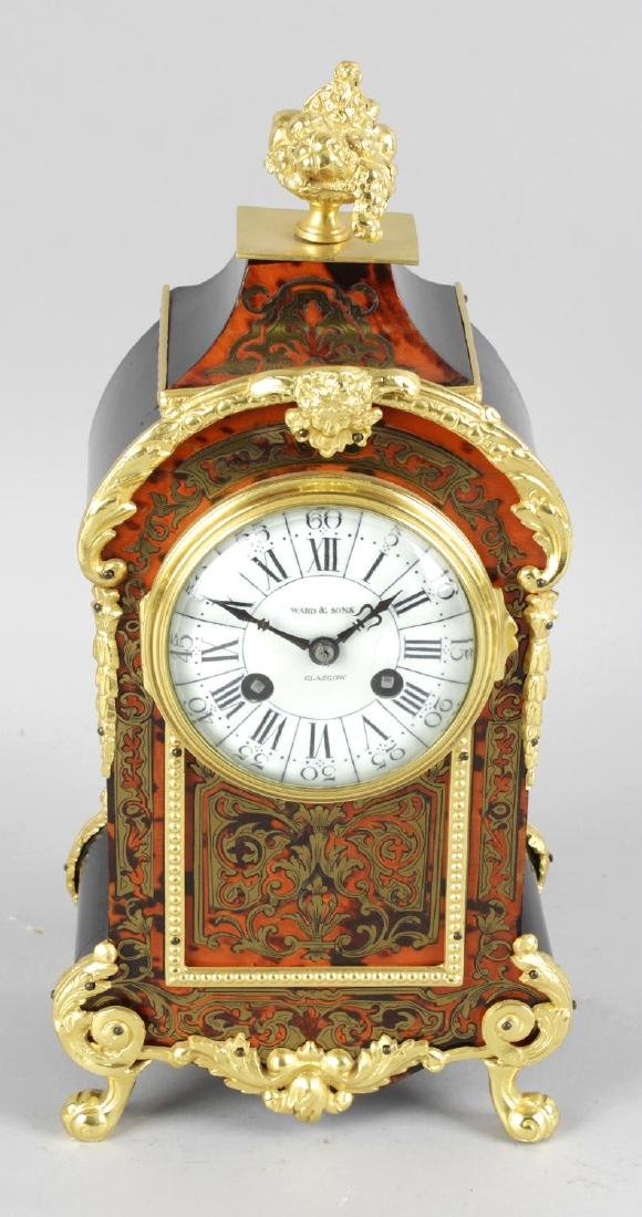 A 19th Century red tortoiseshell and boulle work, gilt