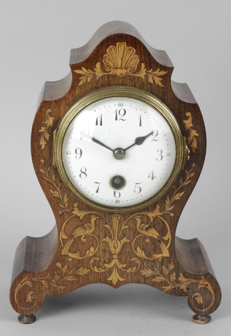 A 19th century rosewood cased mantel clock, the